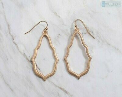 Mazy - Paisley Silhouette Earrings - Jewellery