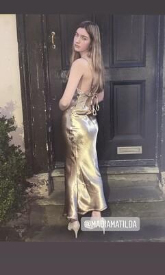 Jemma Satin Cowl Neck - Dress