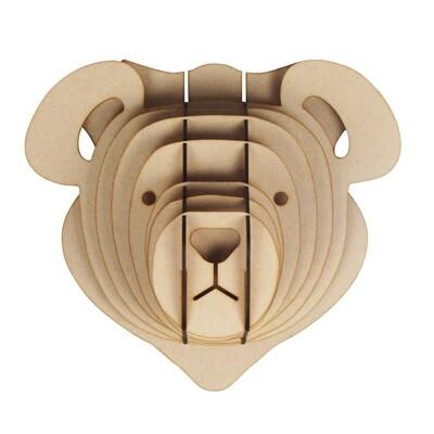 Bear - Wooden Animal Trophy Heads