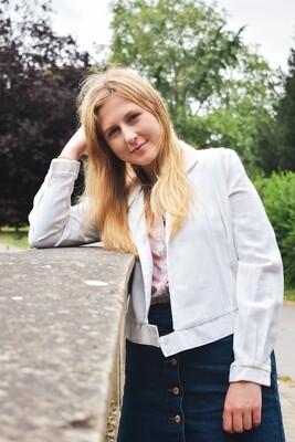 Laura - Linen Bommer Jacket