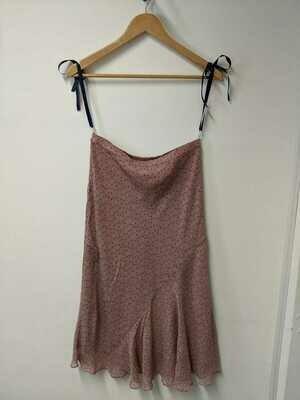 Jamilla - Pink Diagonal Ruffled Skirt