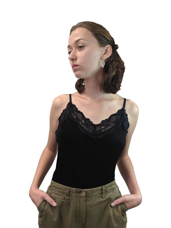 Ashley - Lace Vest Top