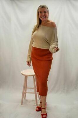Elisa - Ribbed Wool Skirt