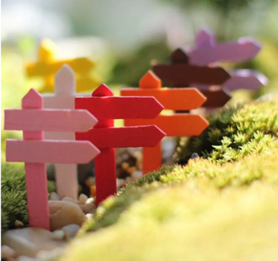 Miniature Wooden Fence- Home