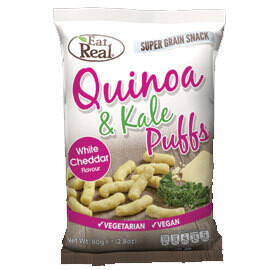 Eat Real Quinoa and Kale Puffs White Cheddar- Food