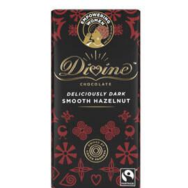 Divine Dark Chocolate Hazelnut Praline- Food