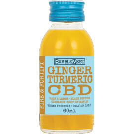 Bumblezest Fire & Fortify Shot Ginger Turmeric & CBD- Food