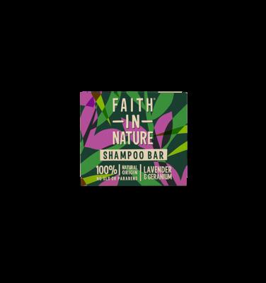 Faith In Nature Lavender and Geranium Shampoo Bar 85g - Beauty