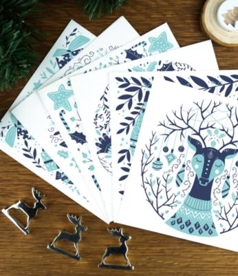 Cool Scandinavian Nordic Christmas cards - Home