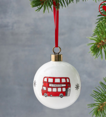 London Red Bus Baubles - Home