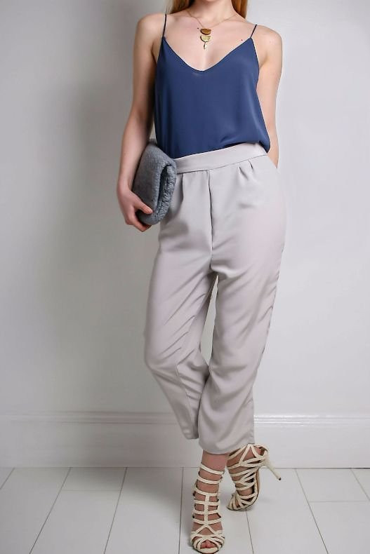 Zara - Japanese Satin Crop Trouser