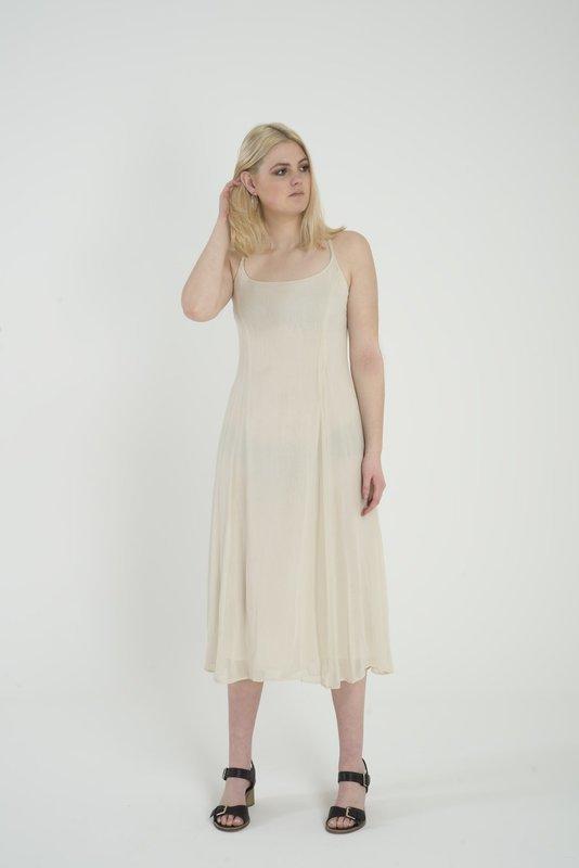 Levannah - Cream Chiffon Dress