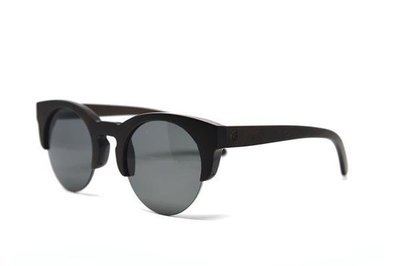 Ebony Wood Semi Frame Sunglasses