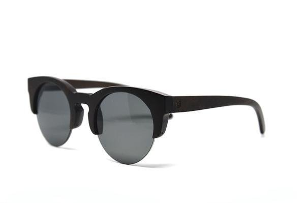 Ebony Wood Semi Frame Sunglasses