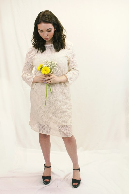Rosie - White Lace Dress