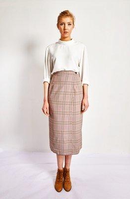 Lucinda - Chequered Print Wrap Skirt