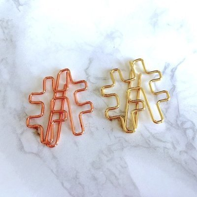 Hash Tag Paper Clips  - Stationery
