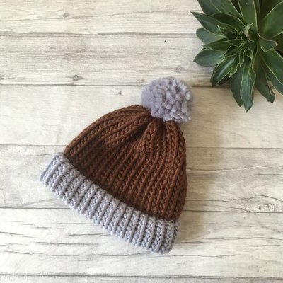 Darcey - Knitted Bobble Hat