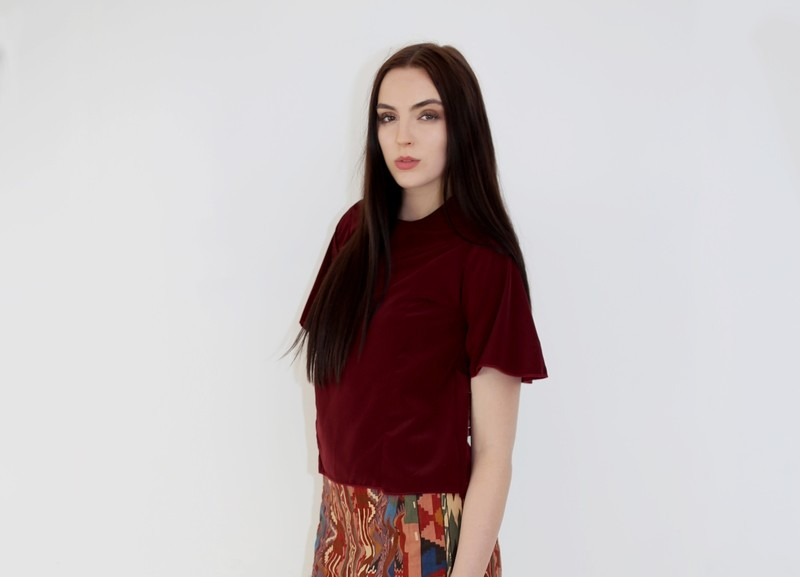 Mercia -  Frill Sleeve top