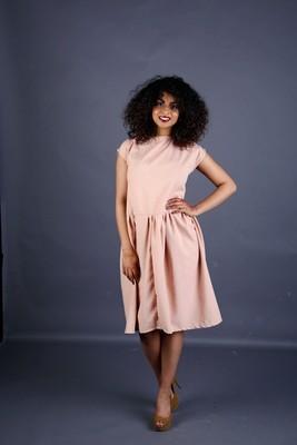 Abbie - Rose Linen Dress