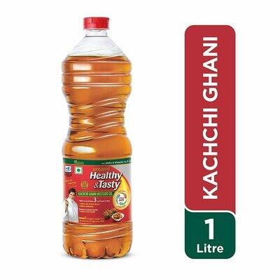 Emami Healthy & Tasty Kachi Ghani Mustard Oil 1Ltr