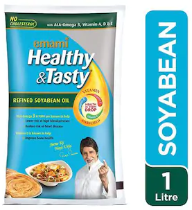 Emami Healthy & Tasty Refined Soya Oil 1ltr