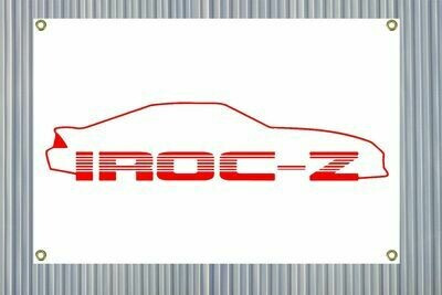"""Iroc-Z Outline (24""""x36"""") Banner"""