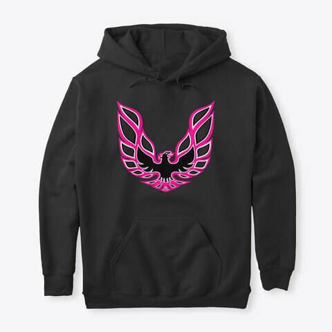 Pontiac Firebird Logo Pink Hoodie