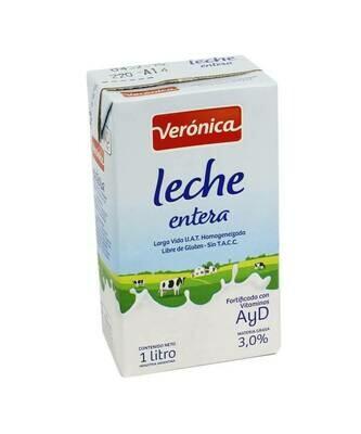 LECHE ENTERA LARGA VIDA, VERONICA, x 1 lt
