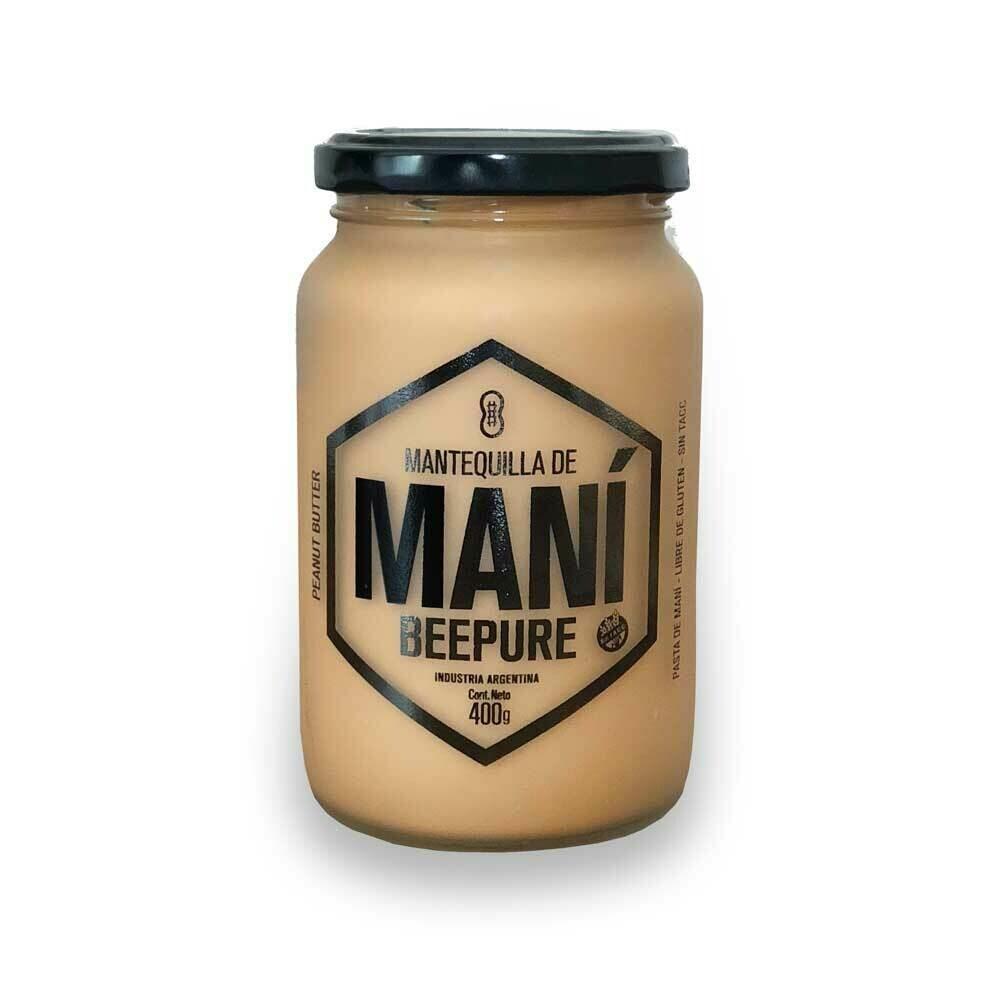 MANTEQUILLA DE MANI, BEEPURE, x 360 gr