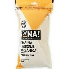 HARINA FINA INTEGRAL ORGANICA, BYNA!, 600 gr