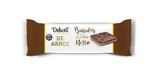 GALLETA DE ARROZ BAÑADA EN CHOCOLATE NEGRO, DELUXE