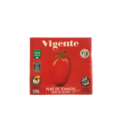 PURE DE TOMATE VIGENTE X 520 GR