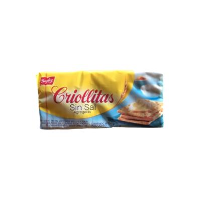 GALLETITAS CRIOLLITAS SIN SAL X 169 GR