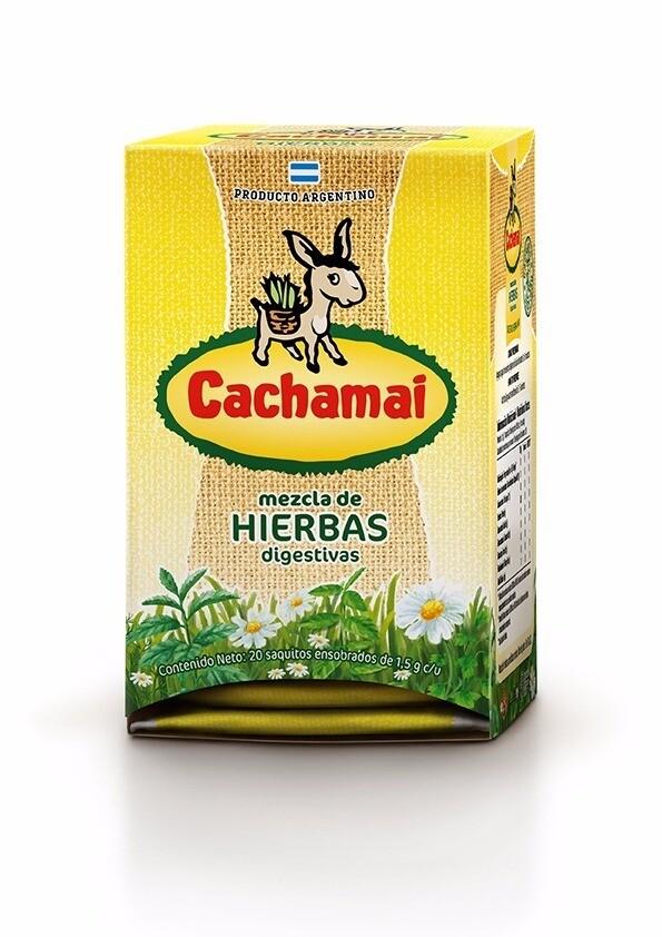 TE CACHAMAI HIERBAS DIGESTIVAS, 20 SAQUITOS
