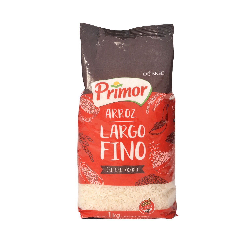 ARROZ LARGO FINO, PRIMOR, x 1 kg