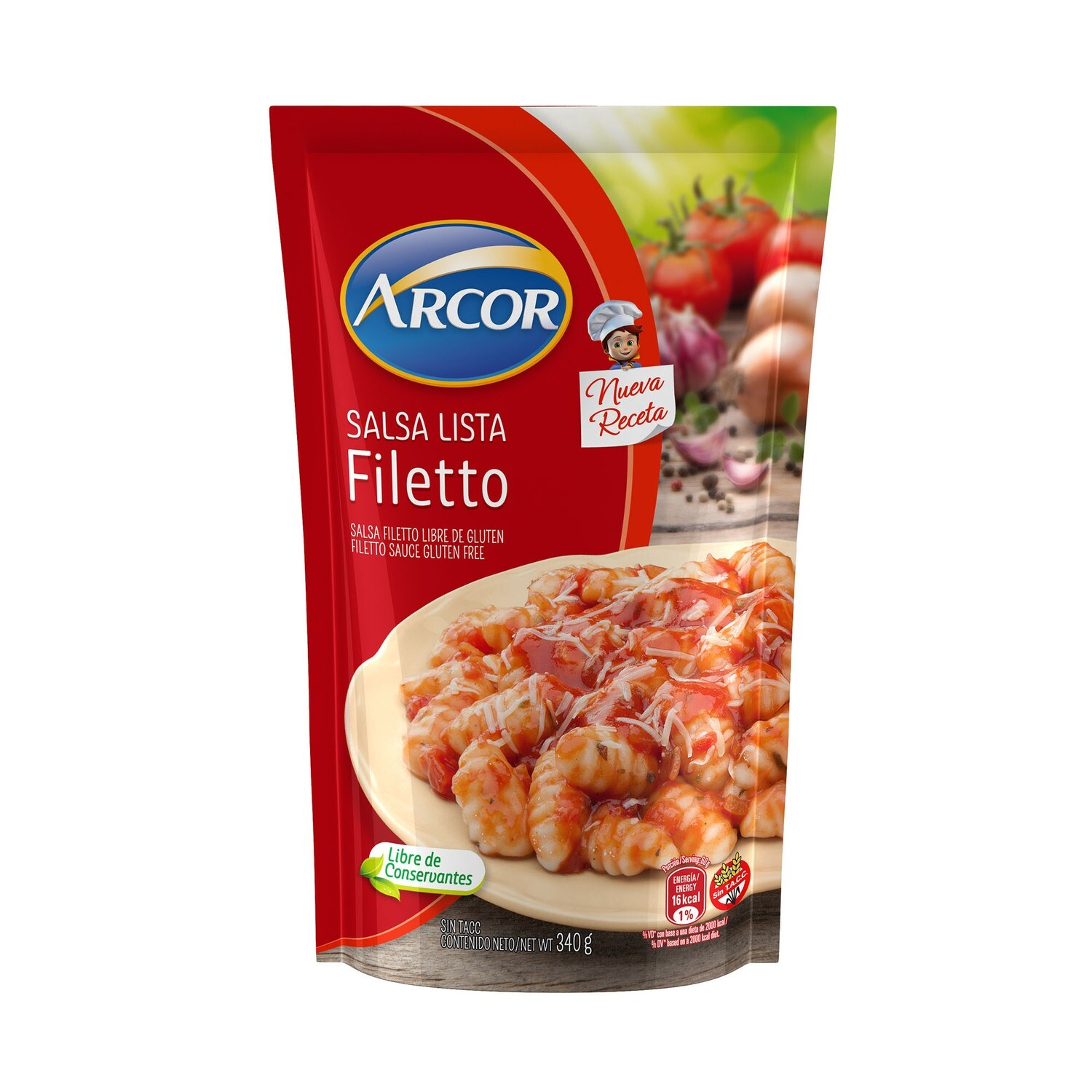 SALSA FILETTO, ARCOR, 340 GR