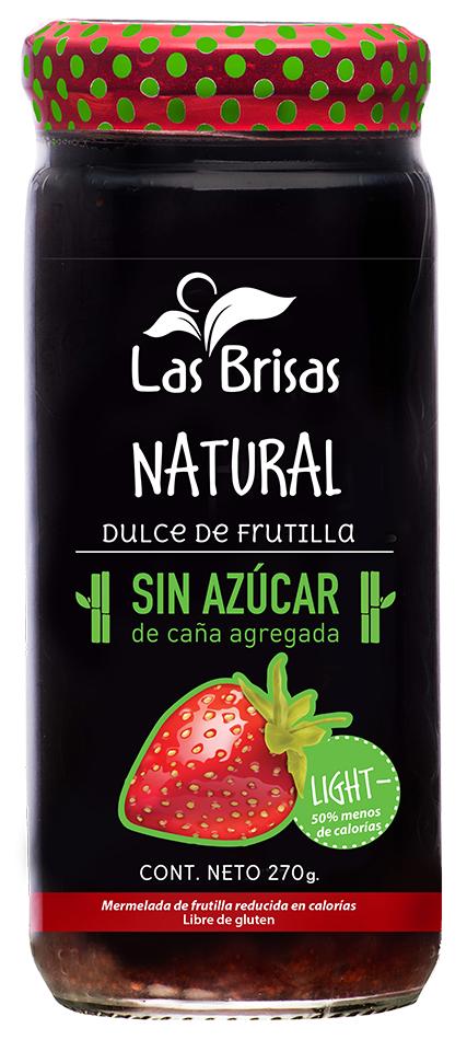DULCE SIN AZUCAR, LAS BRISAS, FRUTILLA x 270 gr