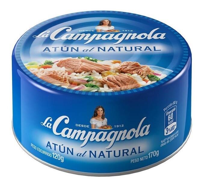 LOMO DE ATUN AL NATURAL, LA CAMPAGNOLA, 170 gr