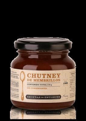 CHUTNEY DE MEMBRILLOS, RECETAS DE ENTONCES, 210 gr