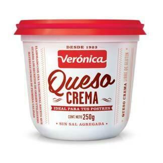 QUESO CREMA SIN SAL, VERONICA, 250 gr