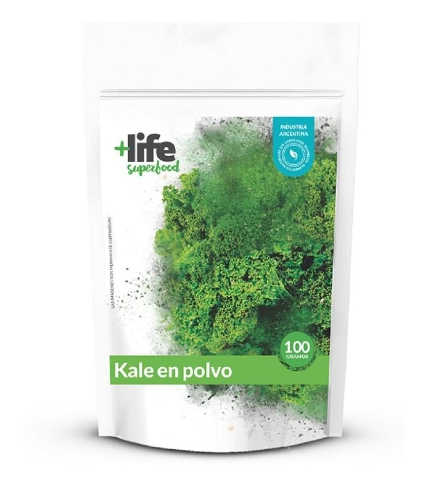 KALE EN POLVO, +LIFE SUPERFOOD, 100 gr