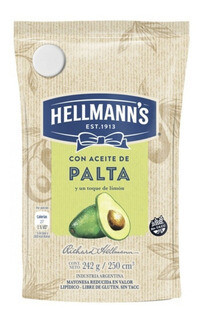 MAYONESA CON PALTA, HELLMANS, 250 gr