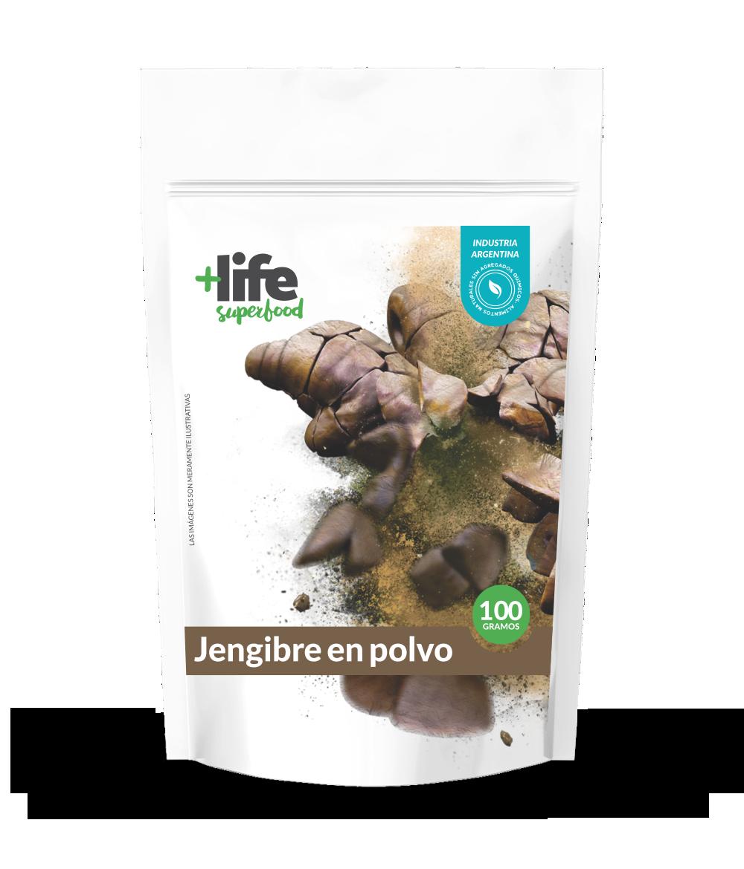 JENGIBRE EN POLVO, +LIFE SUPERFOOD, 100 gr