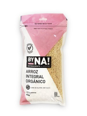 ARROZ LARGO INTEGRAL ORGANICO, BYNA, 600 gr