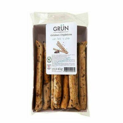 GRISINES CON LINO Y CHIA ORGANICOS, GRUN, 145 gr