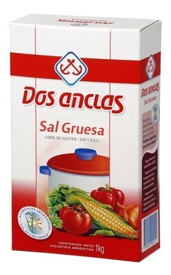 SAL GRUESA, DOS ANCLAS, 1 kg