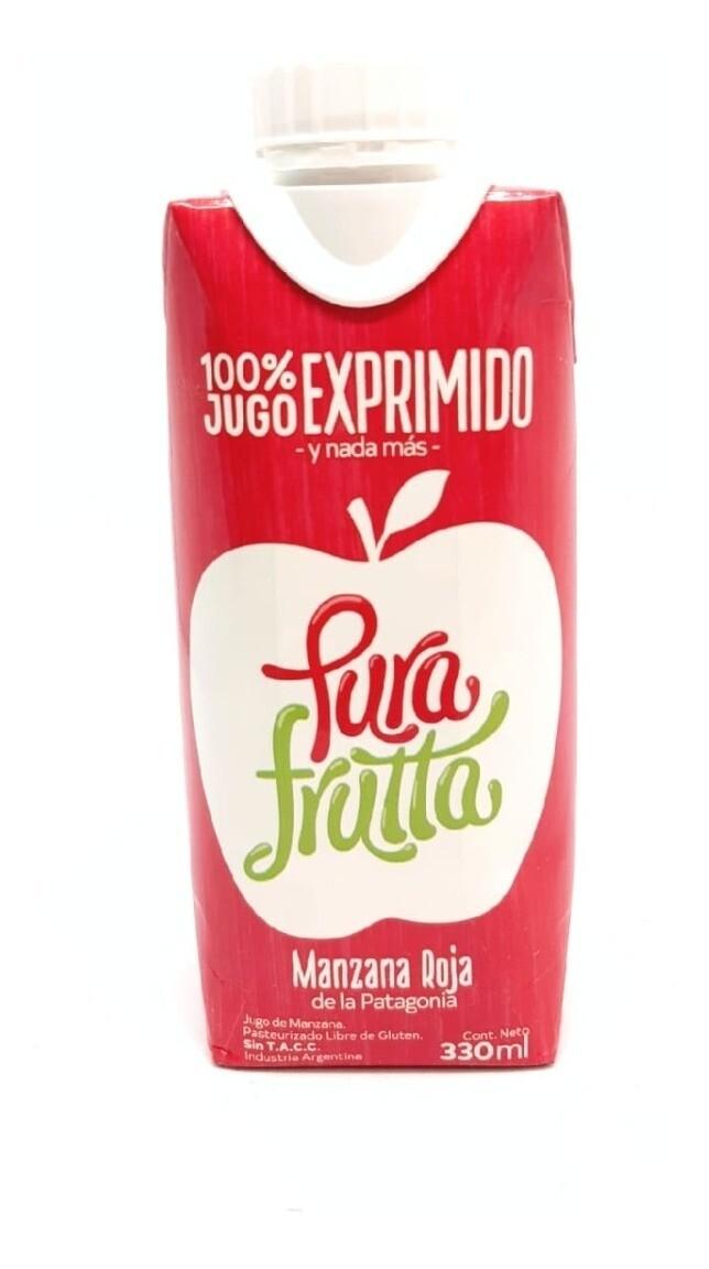 JUGO DE MANZANA ROJA, PURA FRUTTA, 330 ml
