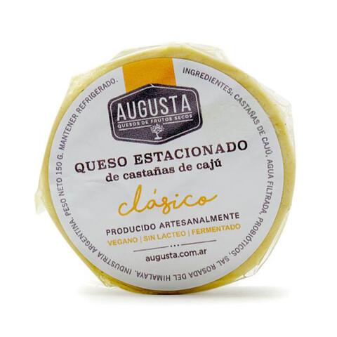 QUESO ESTACIONADO DE CASTAÑA DE CAJU CLASICO, AUGUSTA, 150 gr