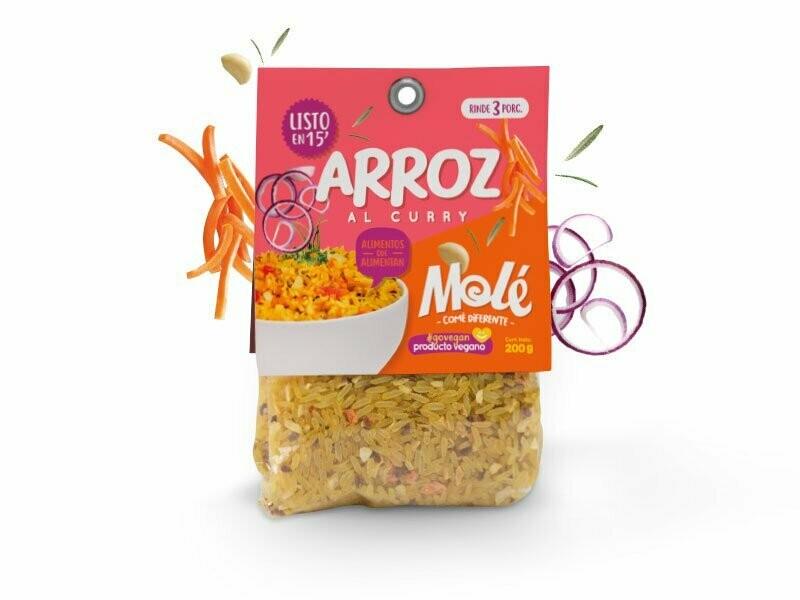 ARROZ AL CURRY, MOLE, 200 gr